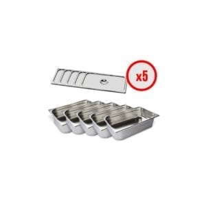 Pack X5 Bac Gastro GN 1/1 + Couvercle (prof. 150mm)